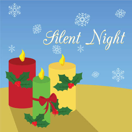 silent: silent night card Stock Photo