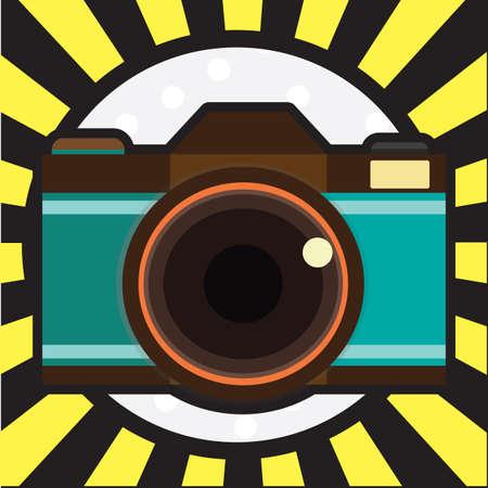 カメラのイラスト 写真素材