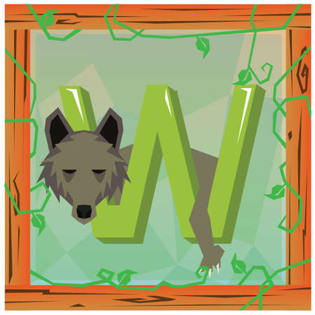playschool: w for wolf Stock Photo