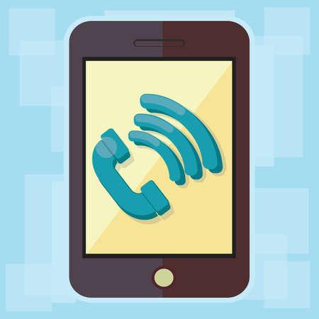 llamando: smartphone con llamar s�mbolo