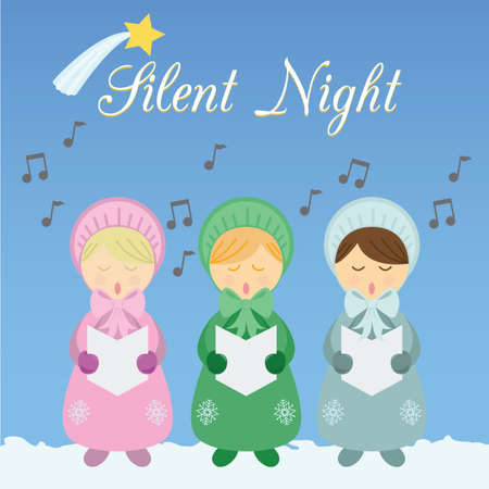 silent night: silent night greeting card Stock Photo