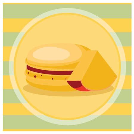 macaron: mango macaron Stock Photo