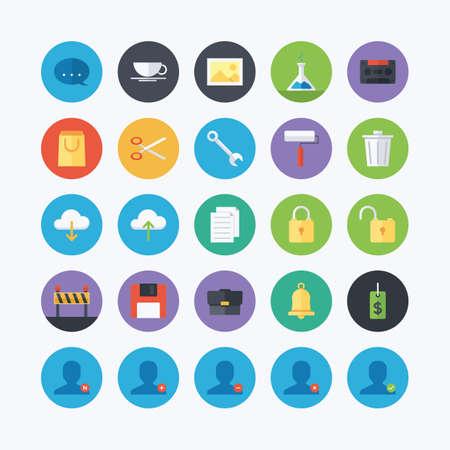 web: set of web icons