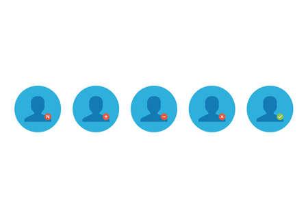 in profile: personal profile friends icons