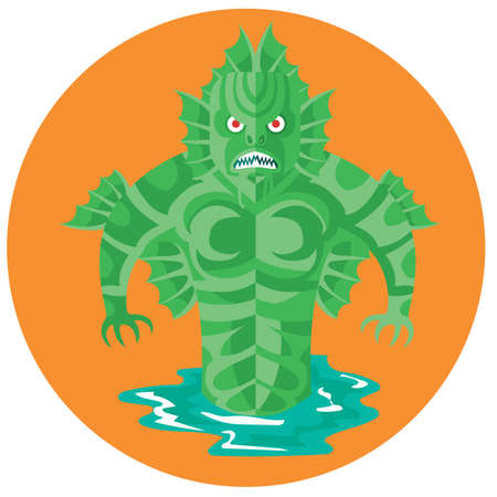 aquatic: aquatic monster Illustration