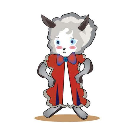 wearing: sheep wearing frock