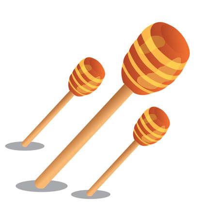 dipper: honey dipper