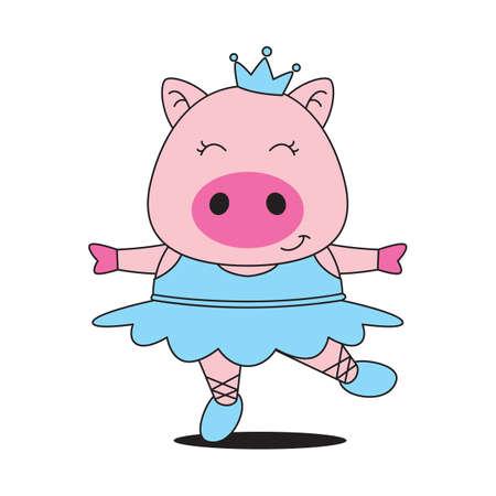 belly dancer: pig as a belly dancer