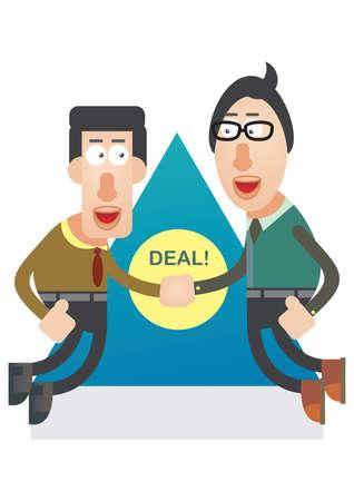 sealing: man sealing a deal