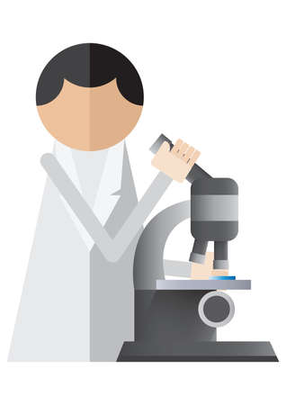 researcher: scientist using the microscope