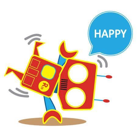 robot doet cartwheel