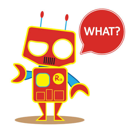 questioning: robot questioning Illustration