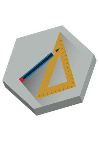 drafting: pencil and drafting ruler