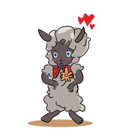 blushing: sheep in love
