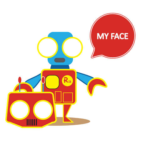 robot face: robot showing its face Illustration