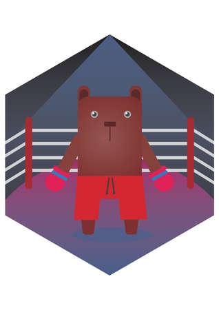 kickboxer: bear cartoon kickboxer