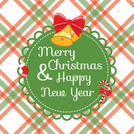 x mas card: christmas and new year greeting card