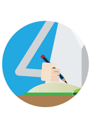 hand writing: hand writing down notes