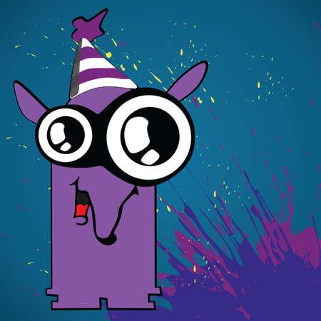 laughs: tapir wearing birthday cap Illustration