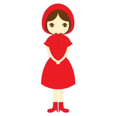red dress: girl in red dress