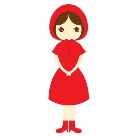girl: girl in red dress