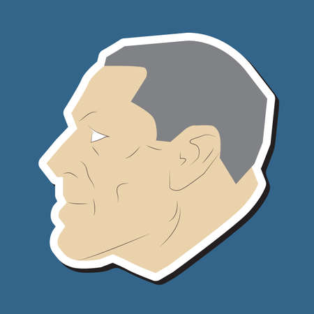 man side view: old man face