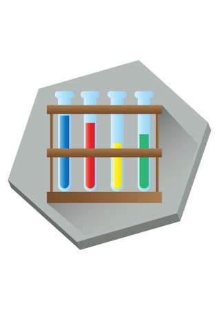 test tubes: test tubes in the rack