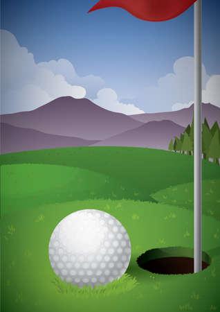 golf field: golf field