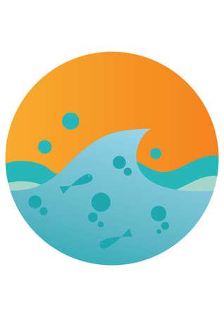waves: sea waves Illustration