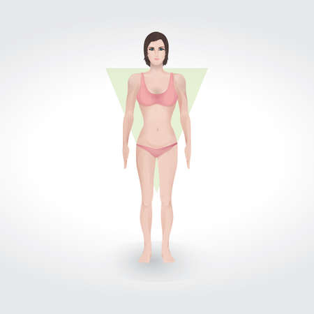 inverted: inverted triangle body shape