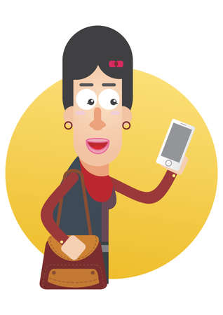 woman on phone: woman holding mobile phone