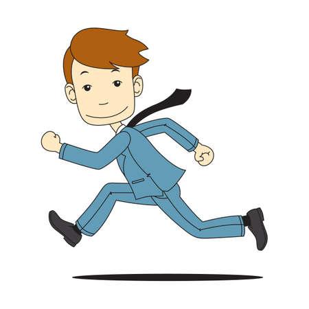 running businessman: running businessman