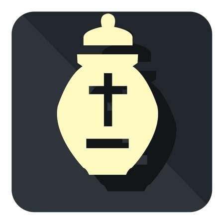 bury: cremation urn