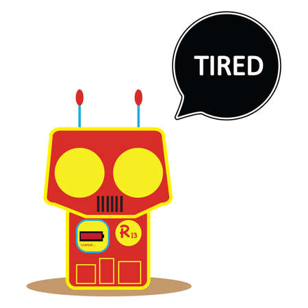 exhausting: robot feeling tired
