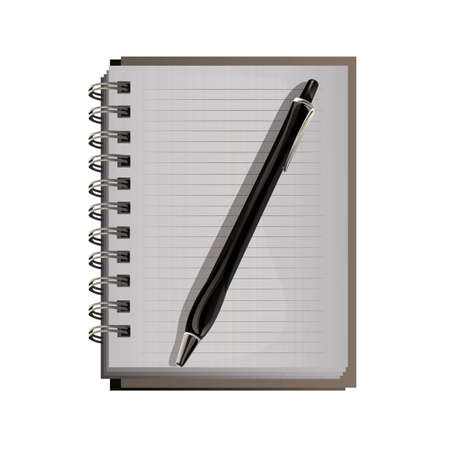 spiral notebook: spiral notebook with pen