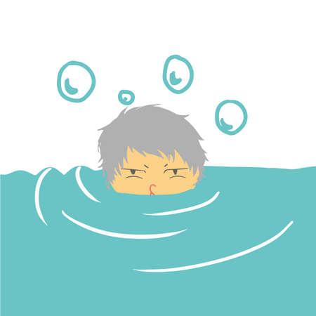 drowning: boy drowning
