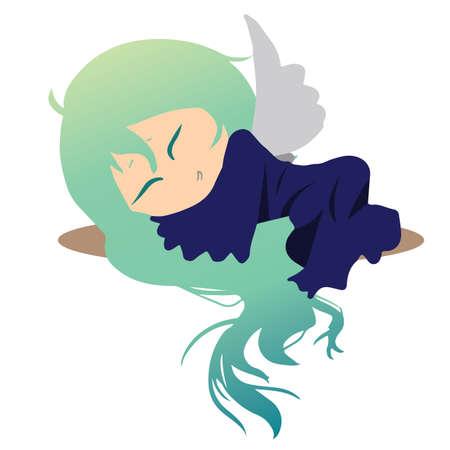 gente durmiendo: hada durmiente Vectores