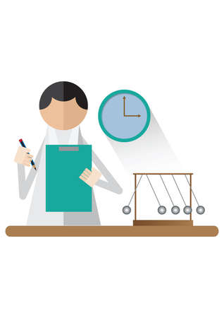 scientist holding clipboard and pencil