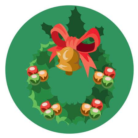 x   mas: christmas wreath Illustration