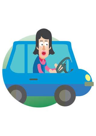 woman driving: woman driving a car