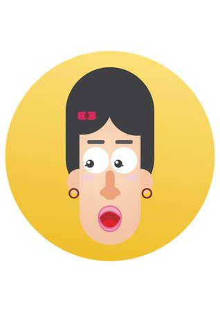 pout: woman pouting lips