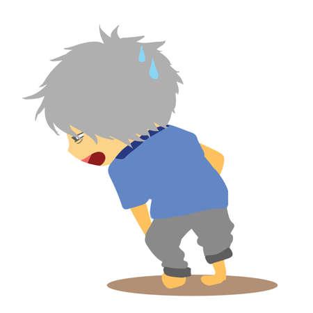 sweating: boy sweating