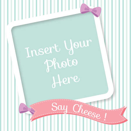 say cheese: greeting card template Illustration