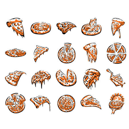 icons: pizza icons