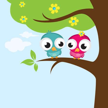 liefde vogels op boom