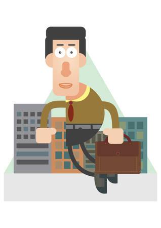 man holding: man holding briefcase Illustration