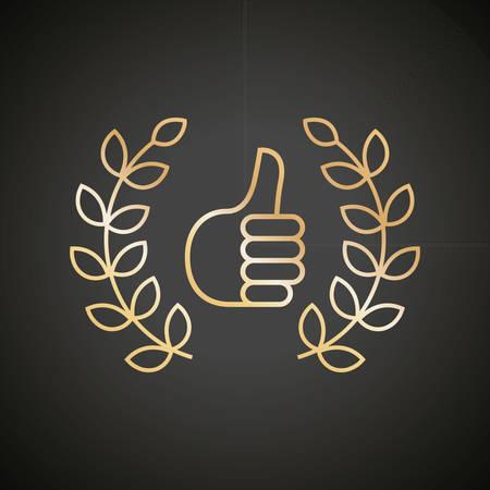 thumbs up: thumbs up laurels