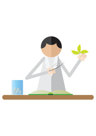 scientist holding plant sample