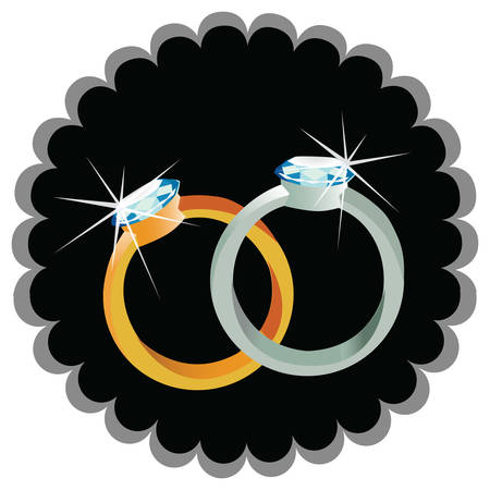 diamond rings: diamond rings Illustration