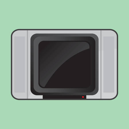 crt: crt television Illustration